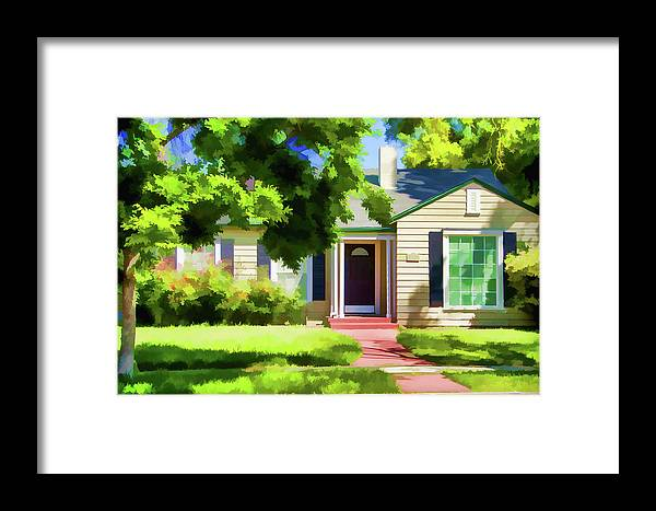 Framed Print featuring the digital art N Central 2 by Terry Davis