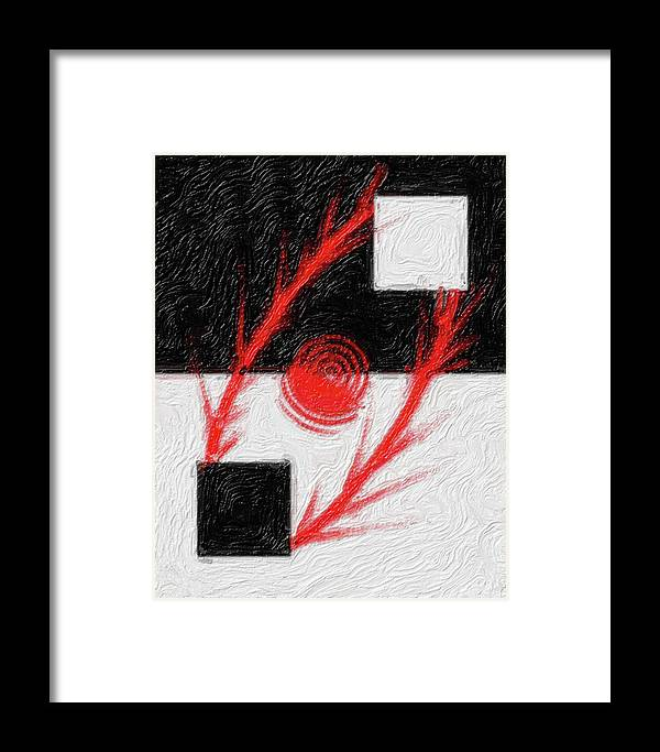 Thought Framed Print featuring the digital art Na-30 by Michael Fencik