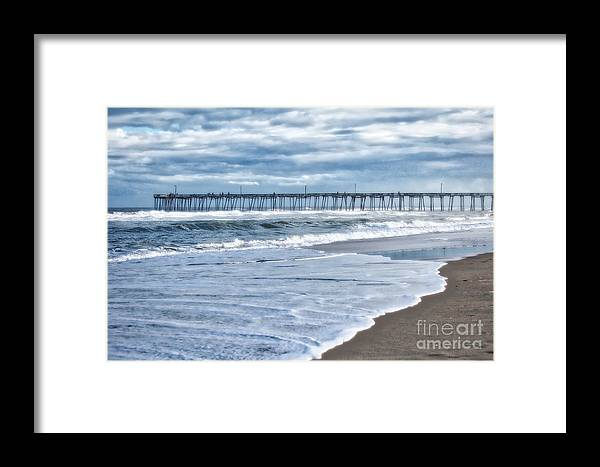 Nags Head Framed Print featuring the photograph Nags Head Fishing Pier by Karin Everhart