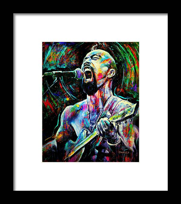 Robyn Chance Framed Print featuring the painting Nahko by Robyn Chance