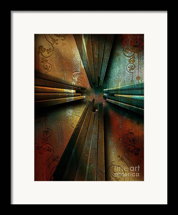 Cross Framed Print featuring the mixed media Nails by Shevon Johnson