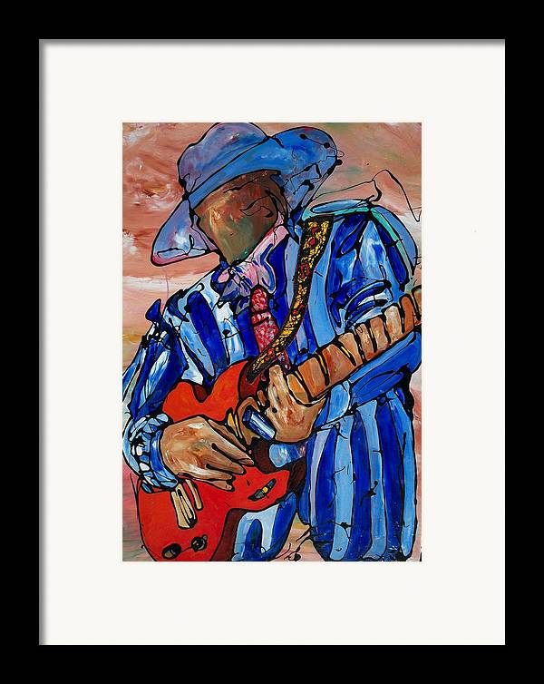 Music Framed Print featuring the painting Nameless The Wailer by Ernie Scott- Dust Rising Studios