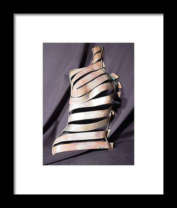 Nancy Framed Print featuring the sculpture Nancy / SOLD by Steve Mudge