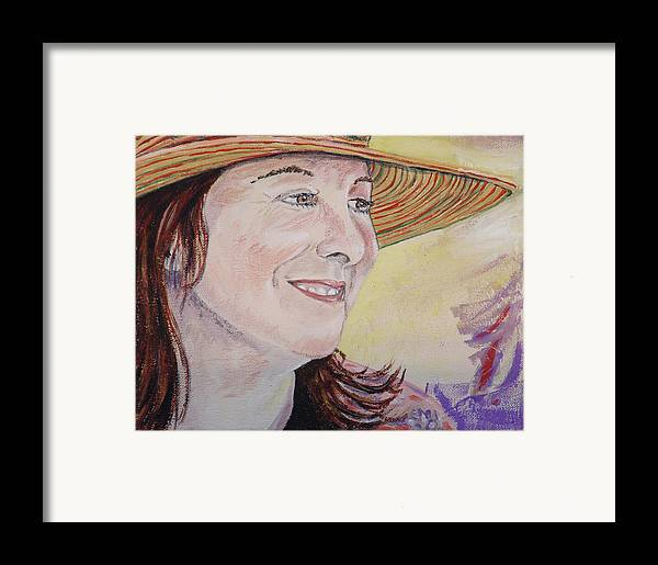 Kevin Callahan Framed Print featuring the painting Nancy Sunshine by Kevin Callahan