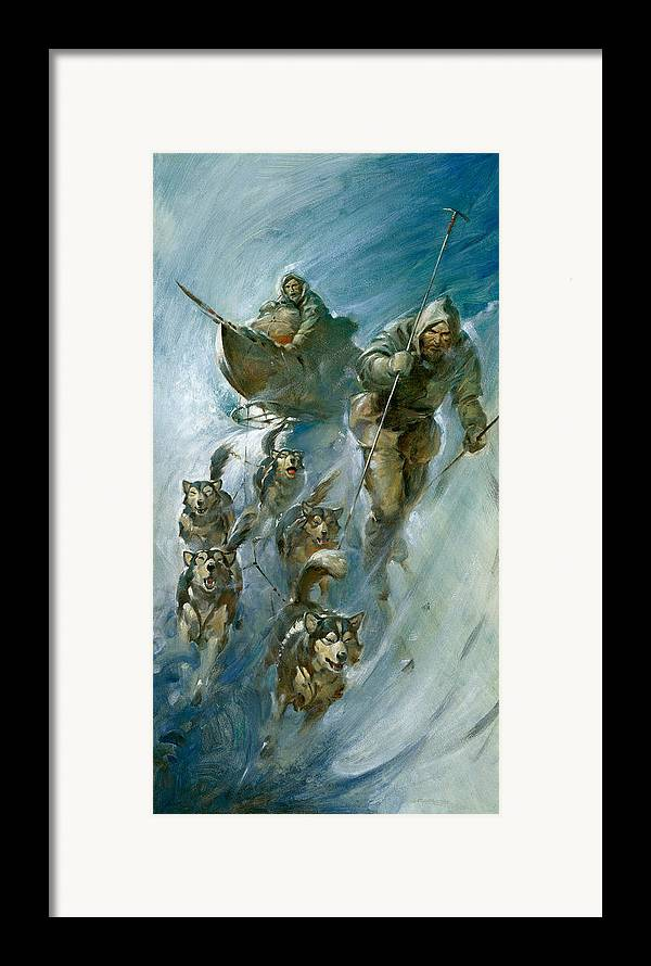 Nansen Framed Print featuring the painting Nansen Conqueror Of The Arctic Ice by James Edwin McConnell