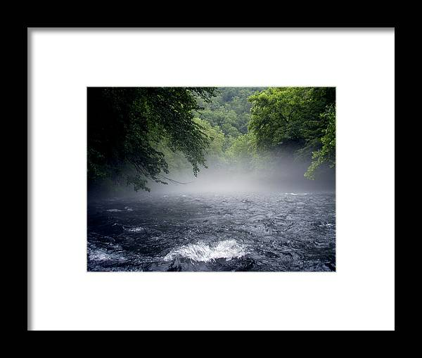 Landscape Framed Print featuring the photograph Nantahala Mist by Jessica Breen