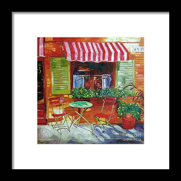 Bistro Framed Print featuring the painting Napa Bistro by David Lloyd Glover