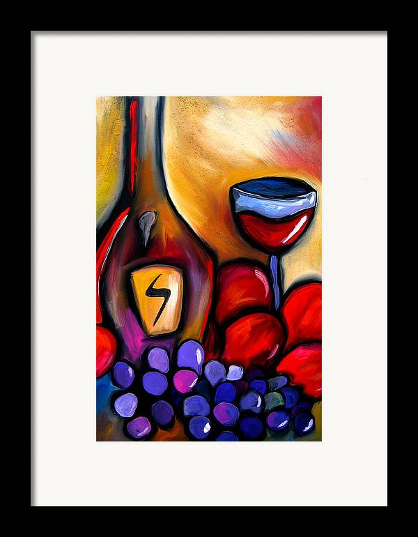 Pop Art Framed Print featuring the painting Napa Mix - Abstract Wine Art By Fidostudio by Tom Fedro - Fidostudio