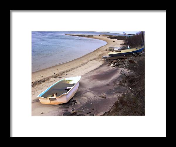 Seascape Framed Print featuring the photograph Napeague by Peter Pfeffer