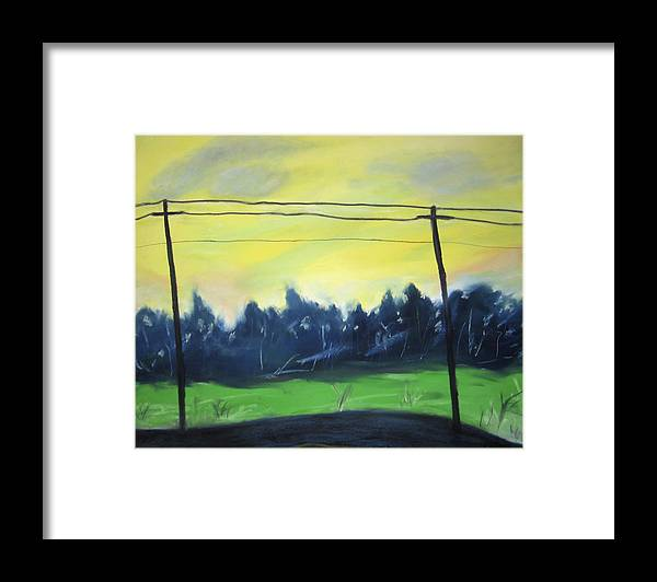 Framed Print featuring the painting Napeague Road by Ingrid Torjesen