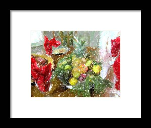 Holiday Framed Print featuring the photograph Napkin Dance by Michael Morrison