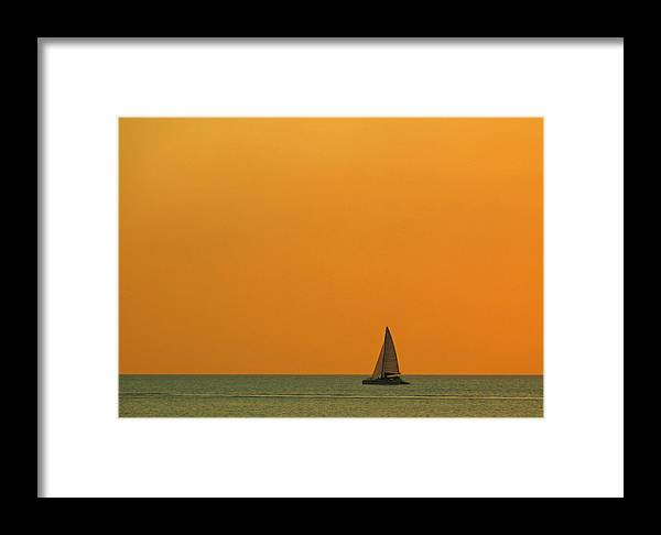 Beach Framed Print featuring the photograph Naples Sunset by Juergen Roth