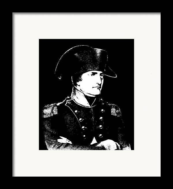 Napoleon Framed Print featuring the digital art Napoleon Bonaparte by War Is Hell Store