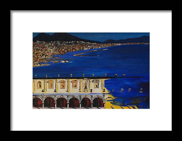 Italy Framed Print featuring the painting Napoli by Gregory Allen Page