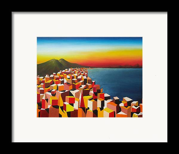 Colors Framed Print featuring the painting Napule' Mille Culure by Massimiliano Stanco