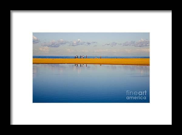 Dunes Lowry Sand Sky Reflection Sun Lifestyle Narrabeen Australia Framed Print featuring the photograph Narrabeen Dunes by Sheila Smart Fine Art Photography