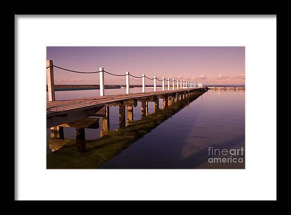 Narrabeen Sydney Sunrise Wharf Walkway Framed Print featuring the photograph Narrabeen sunrise by Sheila Smart Fine Art Photography
