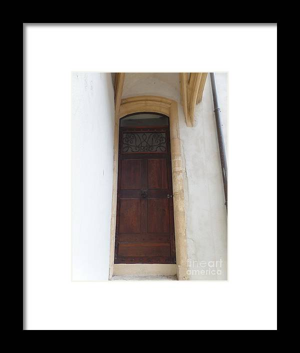 Doors Framed Print featuring the photograph Narrow Door by Kelly R Stewart