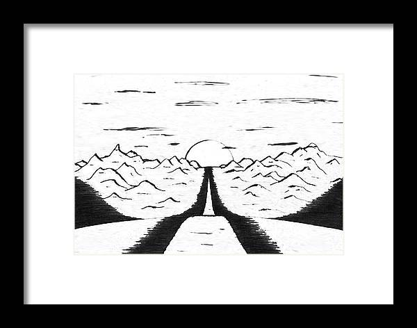 Narrow Framed Print featuring the drawing Narrow Gate by Adam Wells