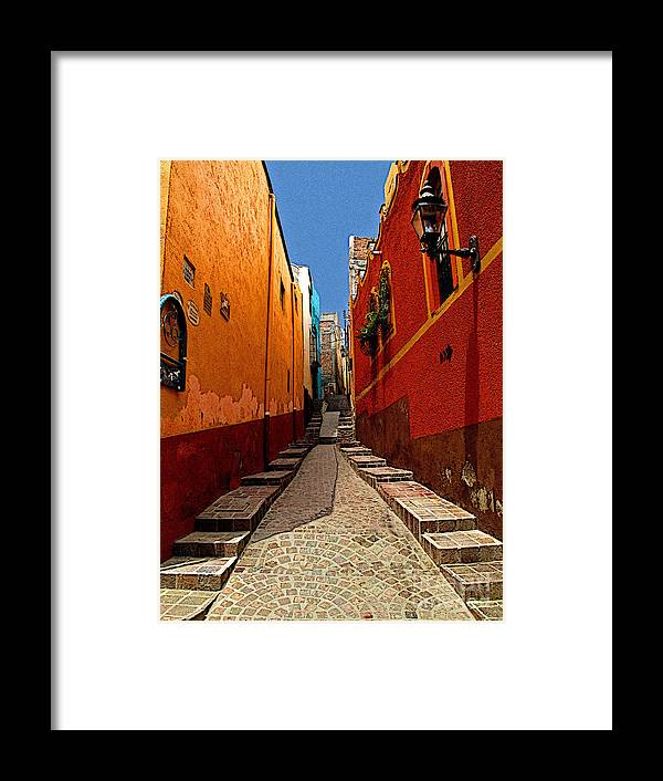 Darian Day Framed Print featuring the photograph Narrow Passage by Mexicolors Art Photography