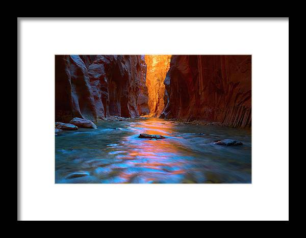 The Narrows Framed Print featuring the photograph Narrowly Wide by Brian Knott Photography