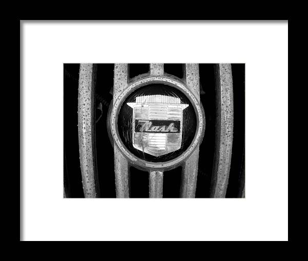Car Framed Print featuring the photograph Nash Emblem by Audrey Venute