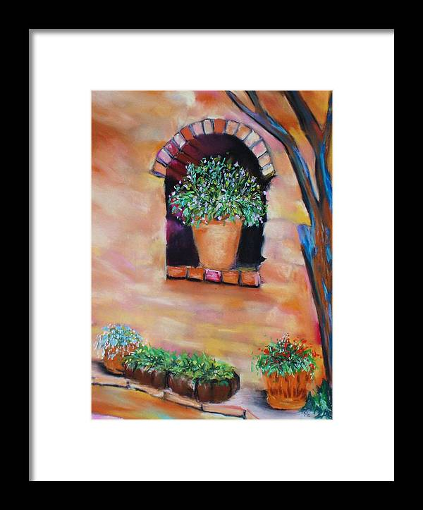 Courtyard Framed Print featuring the painting Nash's Courtyard by Melinda Etzold