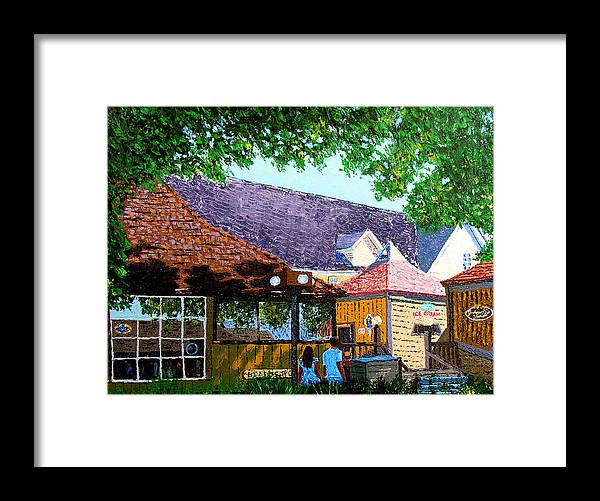 Original Oil On Canvas Framed Print featuring the painting Nashville 3-06 by Stan Hamilton