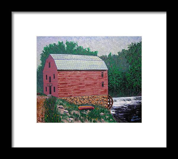 Gristmill Framed Print featuring the painting Nashville Gristmill by Stan Hamilton