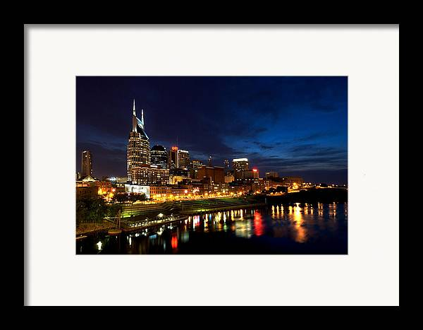 Nashville Framed Print featuring the photograph Nashville Skyline by Mark Currier