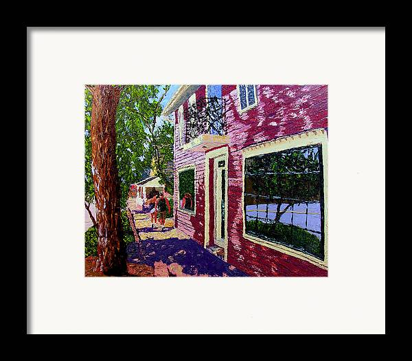 Pallet Knife Framed Print featuring the painting Nashville Upside Down by Stan Hamilton