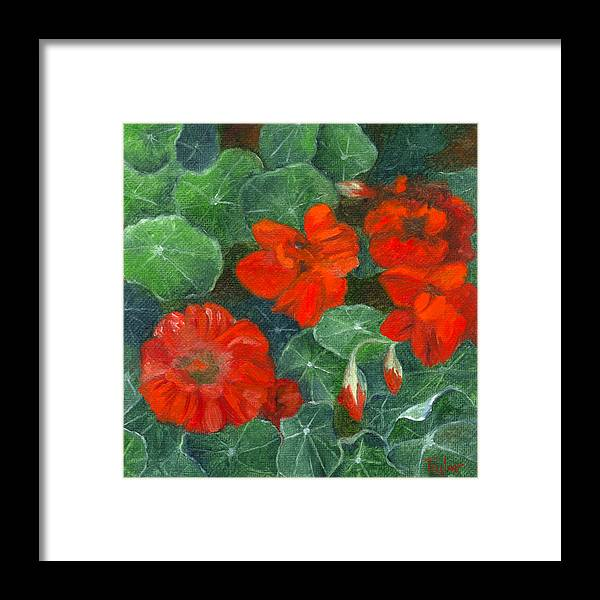 Flowers Framed Print featuring the painting Nasturtiums by FT McKinstry