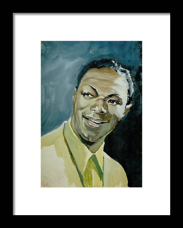 Portrait Framed Print featuring the painting 'nat' by Barry Smith