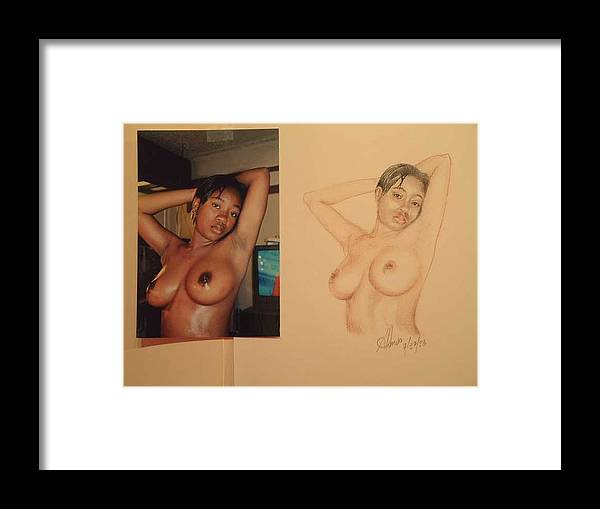 Nudes Framed Print featuring the painting Natasha by Benito Alonso