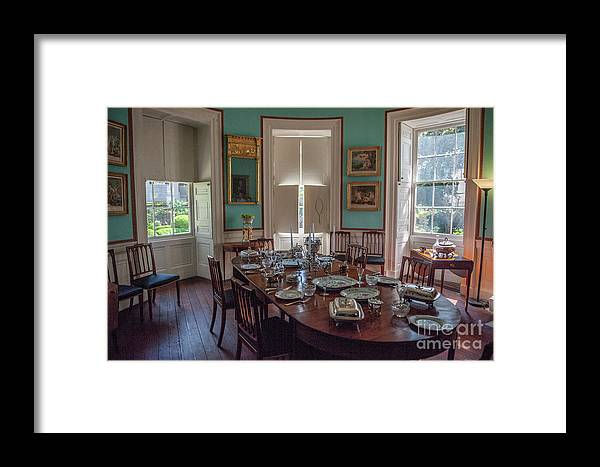 Dining Room Framed Print featuring the photograph Nathaniel Russell Dining Room by Dale Powell