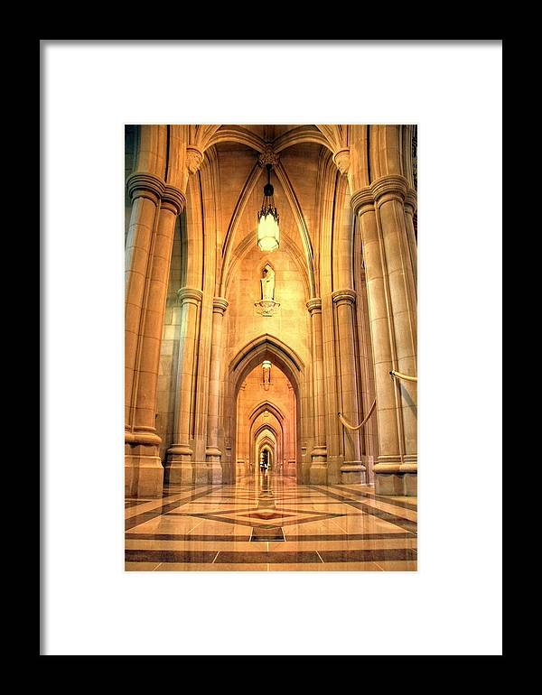Church Framed Print featuring the photograph National Cathedral by Mitch Cat
