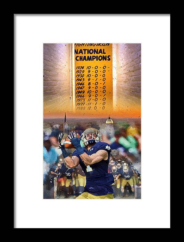 Irish Framed Print featuring the painting National Championships Nd by John Farr