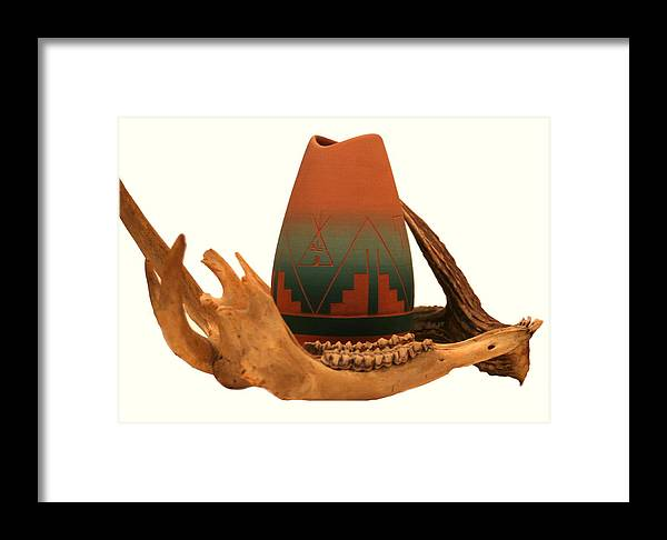 Sioux Pottery Framed Print featuring the photograph Native American Still Life by Diane Merkle