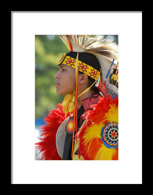 Indian Framed Print featuring the photograph Native Indian by Dennis Hammer