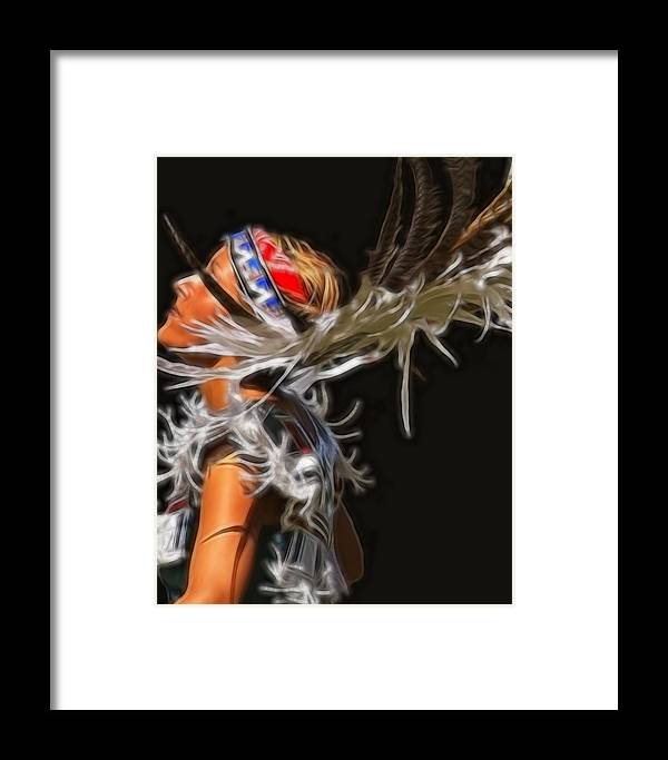 Native Framed Print featuring the photograph Native Maiden by Gene Praag