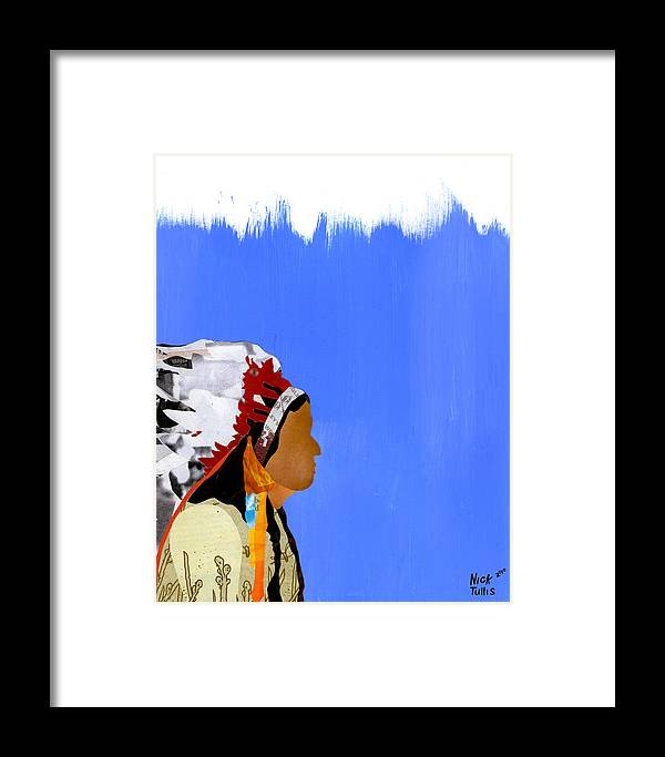 Indian Framed Print featuring the digital art Native by Nicholas Tullis