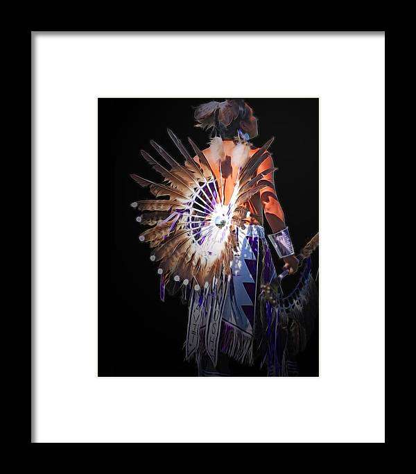 Native Framed Print featuring the photograph Native Spirit by Gene Praag