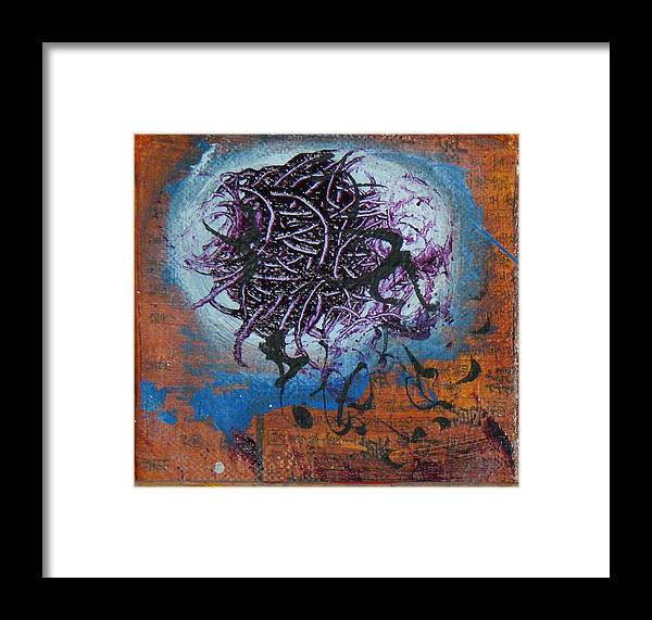 Abstract Framed Print featuring the painting naTTyloX by Lisa McDonough