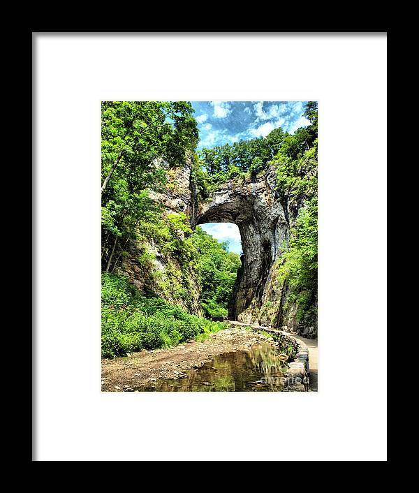 Framed Print featuring the photograph Natural Bridge by Kathy Jennings
