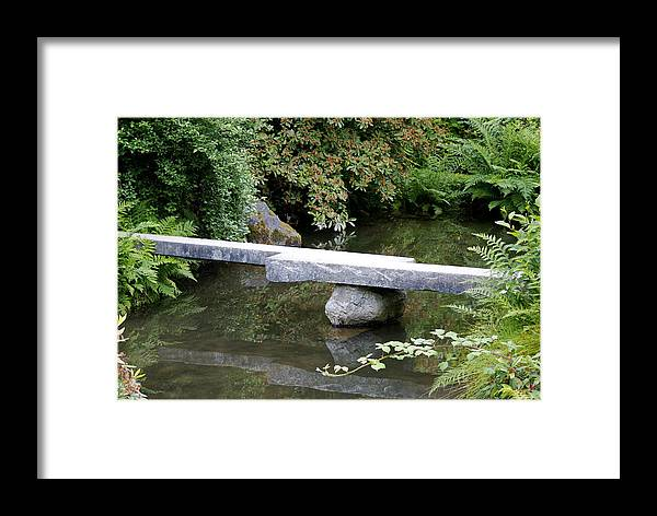 Japanese Garden Framed Print featuring the photograph Natural Bridge by Sonja Anderson