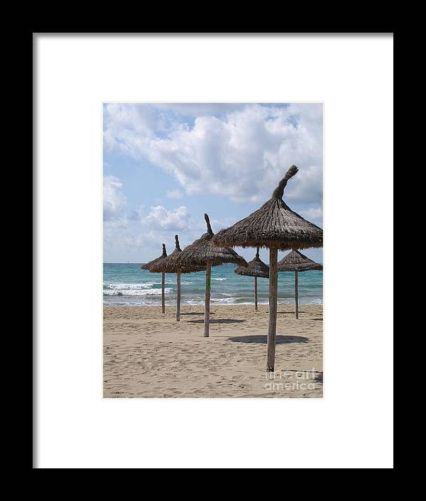 Beach Framed Print featuring the photograph Natural Umbrella by Chad Natti