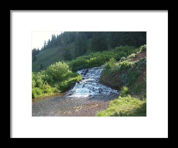 Water Framed Print featuring the photograph Natural Waterfall by Susan Pedrini