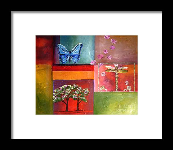 Natrure Framed Print featuring the painting Nature Abstract by Mary Jo Zorad