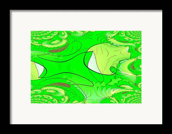 Framed Print featuring the digital art Nature by Andreas R Wesener