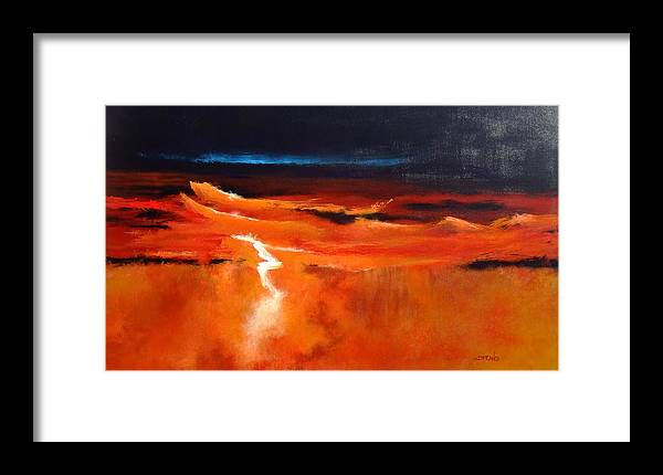Modern Art Framed Print featuring the painting Nature Anger by DEVARAJ DanielFranco